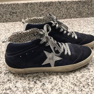 Golden Goose 9 Navy, indigo midstar sneaker